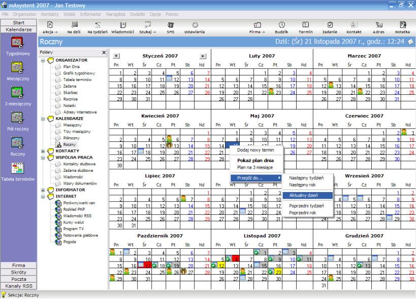 mAsystent - Program do zarządzania czasem